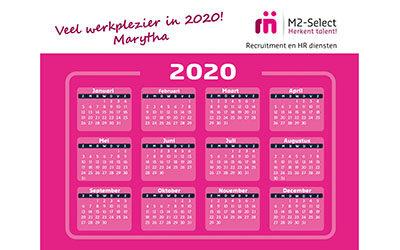 Veel werkplezier in 2020!