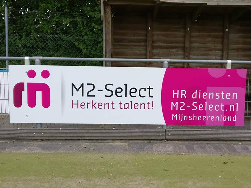 sponsorbord m2-select HC Hoeksche Waard